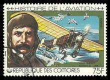 航空历史,路易斯Bleriot 免版税库存照片