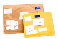 航空双前香港邮件 免版税库存照片