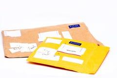 航空双香港邮件 免版税图库摄影