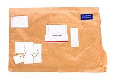 航空唯一香港的邮件 免版税库存图片