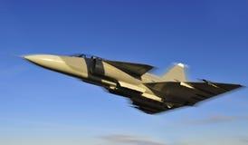 航空喷气式歼击机飞机 库存照片