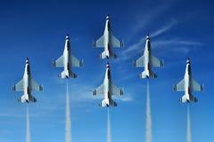 航空喷气机显示 免版税图库摄影