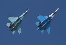 航空喷气机显示 库存照片