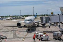 航空器为起飞做准备 免版税库存图片