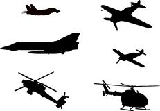 航空器图象向量 库存照片