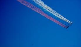 航空器在天空中 库存图片