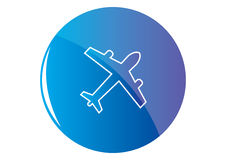 航空器按钮 库存例证