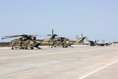 航空器接地军事任务准备 免版税库存图片