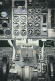 航空器推力杠杆看法  免版税图库摄影