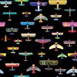航空器无缝背景的模式 免版税图库摄影