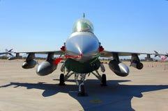 航空器显示战斗机地面军人 库存图片