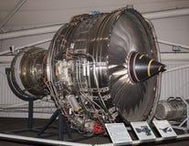 航空器有两个等高引擎的涡轮风扇引擎1991年在 库存图片