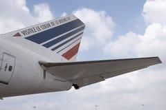 航空器波音747在航天学和航空博物馆  库存图片