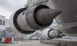 航空器波音747在航天学和航空博物馆  免版税库存图片