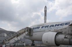 航空器波音747在航天学和航空博物馆  库存照片