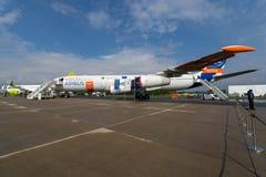航空器的原型在欧洲空中客车A340-300 MSN1射出刀片Breakthrouh层流航空器示威者 库存照片
