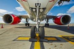 航空器的飞机脚架 免版税库存照片