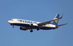 航空器航空公司ryanair 免版税图库摄影
