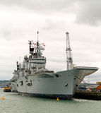 航空器英国承运人军舰 免版税图库摄影