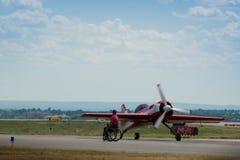 航空器葡萄酒 库存照片