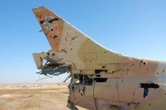 航空器被毁坏的军人 库存照片