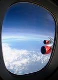 航空器视窗 库存图片
