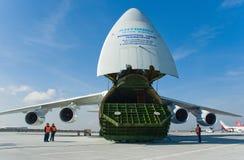 航空器货物俄语 免版税库存照片