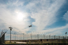 航空器起飞 免版税图库摄影