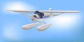 航空器轻的小的白色 免版税库存图片