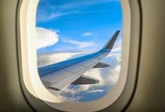 从航空器里边客舱的看法  库存图片