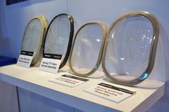 航空器集合客舱多种视窗 库存图片