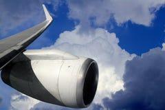 航空器飞机飞行涡轮翼 库存图片