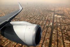 航空器飞机df飞行墨西哥涡轮翼 免版税库存图片