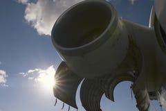 航空器-葡萄酒苏联民用乘客飞机引擎转储  免版税库存照片