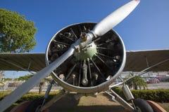 航空器El有蓝天的里约Caroni在玻利瓦尔城, Venezuel 库存照片