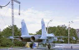 航空器Su27战斗机空气霸权 库存图片