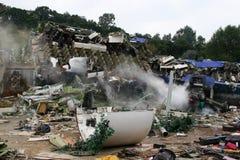 航空坠机事件灾害电影布景 免版税图库摄影
