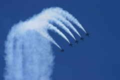 航空天使蓝色显示 库存照片