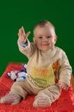 航空婴孩逗人喜爱现有量挥动 免版税库存照片