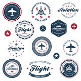 航空学标记葡萄酒 免版税库存照片
