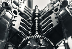 航空引擎活塞和齿轮 免版税图库摄影