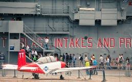 航空强悍博物馆海运空间 库存图片
