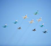 航空战斗机俄语 免版税库存图片