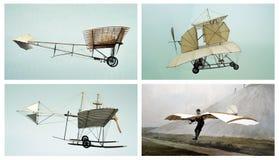 航空拼贴画老飞机运输 库存照片