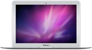 航空新苹果的macbook 库存例证