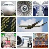 航空旅行拼贴画 免版税库存图片