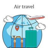 航空旅行概念传染媒介图象 免版税库存图片