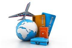 航空旅行概念 免版税图库摄影