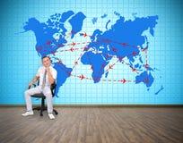 航空旅行计划 免版税库存图片