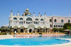 航空旅馆极可意浴缸开放池样式威尼斯 库存照片